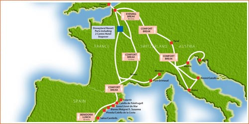 Chunnel - take The Chunnel from England to France. Chunnel is the short name often used for the Channel Tunnel. The Chunnel runs from Folkestone in the south of England, to Calais in northern France. Using the Chunnel. The Chunnel can be used by anyone wanting to cross the Channel .