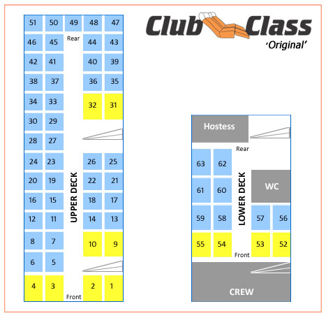 Club Class 63 - seating plan