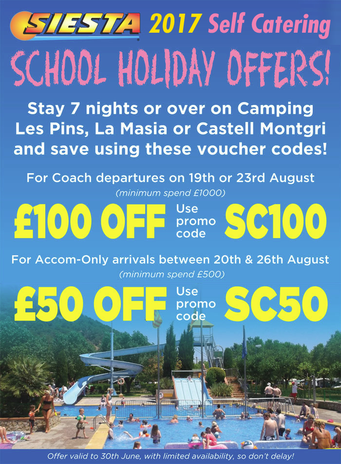 SCHOOL HOLIDAY OFFERS!